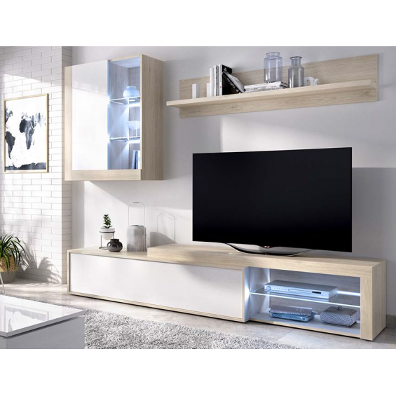 Conjunto muebles de TV Clay